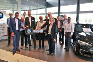 Fahrzeugübergabe eines BMW i3s