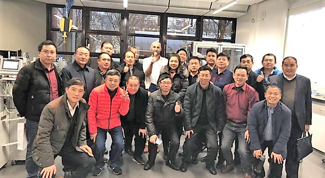 Lehrergruppe aus China besucht die Lernfabrik