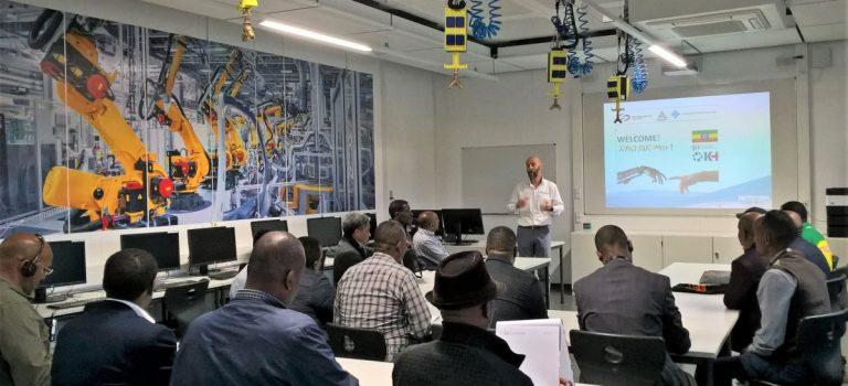 Delegation aus Äthiopien informiert sich über die duale Ausbildung
