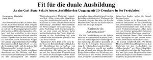 Zeitungsartikel BNN